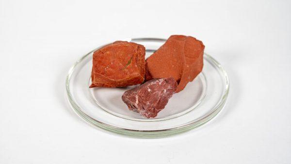 Roter Jaspis Rohsteine